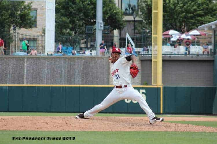 Emmanuel Clase on the mound in Frisco