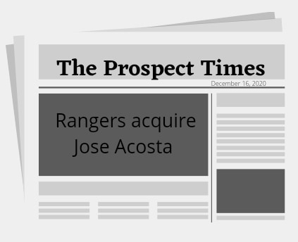 Rangers acquire Jose Acosta from the Reds